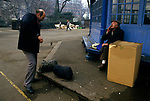 Rough sleepers UK 1980s homeless men sleeping in London parks 1985 Lincoln Inns Field Tramps with cardboard box overnight shelters 80s