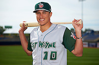 Fort Wayne TinCaps outfielder Nick Torres (10) poses for a photo before a game against the Lake County Captains on May 20, 2015 at Classic Park in Eastlake, Ohio.  Lake County defeated Fort Wayne 4-3.  (Mike Janes/Four Seam Images)