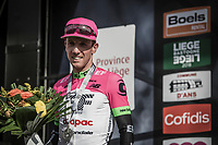 Michael Woods (CAN/EducationFirst-Drapac) on podium after finishing 2nd place.<br /> <br /> 104th Liège - Bastogne - Liège 2018 (1.UWT)<br /> 1 Day Race: Liège - Ans (258km)