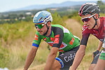 The peloton including Elia Viviani (ITA) Cofinis and Tao Geoghegan Hart (GNR) Team Ineos during Stage 2 of the Route d'Occitanie 2020, running 174.5km from Carcassone to Cap Découverte, France. 2nd August 2020. <br /> Picture: Colin Flockton | Cyclefile<br /> <br /> All photos usage must carry mandatory copyright credit (© Cyclefile | Colin Flockton)
