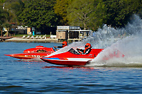 "Wayne Butler, S-77 and Paul Scopinich, E-156 ""Sin"" (1975 Lloyd 280 class hydroplane)"