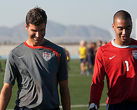 Assistant Coach Paul Grafer and Earl Edwards at training. 2009 CONCACAF Under-17 Championship From April 21-May 2 in Tijuana, Mexico