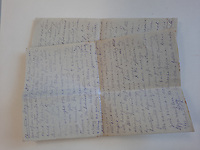 BNPS.co.uk (01202 558833)<br /> Pic: Bonhams/BNPS<br /> <br /> Pictured: Captain Duncan Warrand's letters.<br /> <br /> A fascinating letter recounting how Tommies returned from German trenches with boxes of cigars during the famous 1914 Christmas Day truce has come to light.<br /> <br /> Captain Duncan Warrand, of the 2nd Seaforth Highlanders, said they 'walked freely and fraternised' with their 'gentleman' adversaries during the temporary ceasefire.<br /> <br /> There was 'shouting and singing' and the officer picked a bit of ivy off a tree to 'commemorate the extraordinary Christmas of peace and war'.<br /> <br /> Capt Warrand wrote over 70 letters to his sister Carrie back in the Scottish Highlands throughout World War One which shed light on trench life.<br /> <br /> They have emerged for sale with auctioneers Bonhams as part of his extensive archive which also includes his pocket diaries, trench maps and trench whistle.