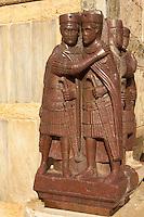 4 tetrachs on the facade of Saint Marks Basilica Venice - sith century afro - egyptian art