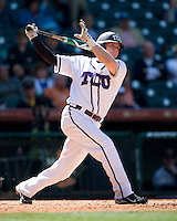 TCU Horned Frog 1B Matt Curry against the Missouri Tigers on Saturday March 6th, 2100 at the Astros College Classic in Houston's Minute Maid Park.  (Photo by Andrew Woolley / Four Seam Images)