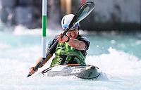 Laia Sorribes. (ESP). Oceania Canoe Slalom Championships, Whero Whitewater Park, Auckland, New Zealand, 1st February 2020. Photo: Simon Watts/www.bwmedia.co.nz