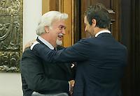 Matteo Brignadi e Paolo Corder.CSM - Consiglio Superiore della Magistratura (Plenum) .Nomina del Vice Presidente.Roma, 2 Agosto 2010.Photo Serena Cremaschi Insidefoto
