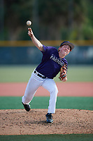 Jeramie Hill (60), from New Brighton, Pennsylvania, while playing for the Rockies during the Baseball Factory Pirate City Christmas Camp & Tournament on December 28, 2017 at Pirate City in Bradenton, Florida.  (Mike Janes/Four Seam Images)
