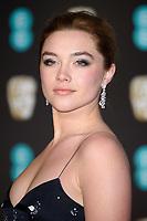 Florence Pugh<br /> arriving for the BAFTA Film Awards 2018 at the Royal Albert Hall, London<br /> <br /> <br /> ©Ash Knotek  D3381  18/02/2018
