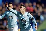 Celta de Vigo's Hugo Mallo celebrates disallowed goal  during La Liga match. February 09,2019. (ALTERPHOTOS/Alconada)