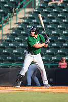 Eudor Garcia (28) of the Savannah Sand Gnats at bat against the Hickory Crawdads at L.P. Frans Stadium on June 14, 2015 in Hickory, North Carolina.  The Crawdads defeated the Sand Gnats 8-1.  (Brian Westerholt/Four Seam Images)