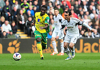 Swansea v Norwich, Liberty stadium Swansea, Saturday 29th March 2014<br /> <br /> Photographs by Amy Husband<br /> <br /> Swansea's Leon Britton on the ball.