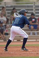 Seattle Mariners center fielder DeAires Moses (31) during a Minor League Spring Training game against the San Diego Padres at Peoria Sports Complex on March 24, 2018 in Peoria, Arizona. (Zachary Lucy/Four Seam Images)
