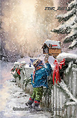 Marcello, CHRISTMAS CHILDREN, WEIHNACHTEN KINDER, NAVIDAD NIÑOS, paintings+++++,ITMCXM1131,#xk# ,playing in snow