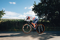 6th October 2021 Womens Cycling Tour, Stage 3. Individual Time Trial; Atherstone to Atherstone. Alice Barnes.