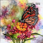 Malenda, FLOWERS, BLUMEN, FLORES, paintings+++++,USMT501,#f#, EVERYDAY,butterfly,butterflies