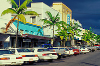 View of a street in Hilo town on the big island.