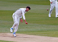 Yorkshire's Duanne Olivier bowls during Kent CCC vs Yorkshire CCC, LV Insurance County Championship Group 3 Cricket at The Spitfire Ground on 16th April 2021