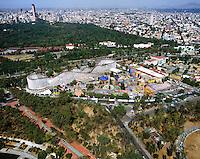 aerial photograph of La Feria, in Chapultepec Park,  Mexico City | fotografía aérea de La Feria, en el Parque de Chapultepec, Ciudad de México