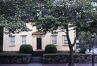 Providence:  No. 43 Benefit St.  John Jenckes House, 1774. Note pilasters flanking door and pediment over door.  Photo '91.