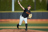 USC Trojans starting pitcher Mitch Hart (14) delivers a pitch to the plate against the Wake Forest Demon Deacons at David F. Couch Ballpark on February 24, 2017 in  Winston-Salem, North Carolina.  The Demon Deacons defeated the Trojans 15-5.  (Brian Westerholt/Four Seam Images)