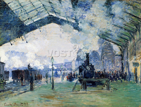 Claude Monet - Saint-Lazare Station, the Normandy Train (1877). Chicago, The Art Institute of Chicago.