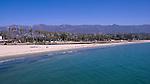 Long stretch of white sand beach, Santa Barbara, California