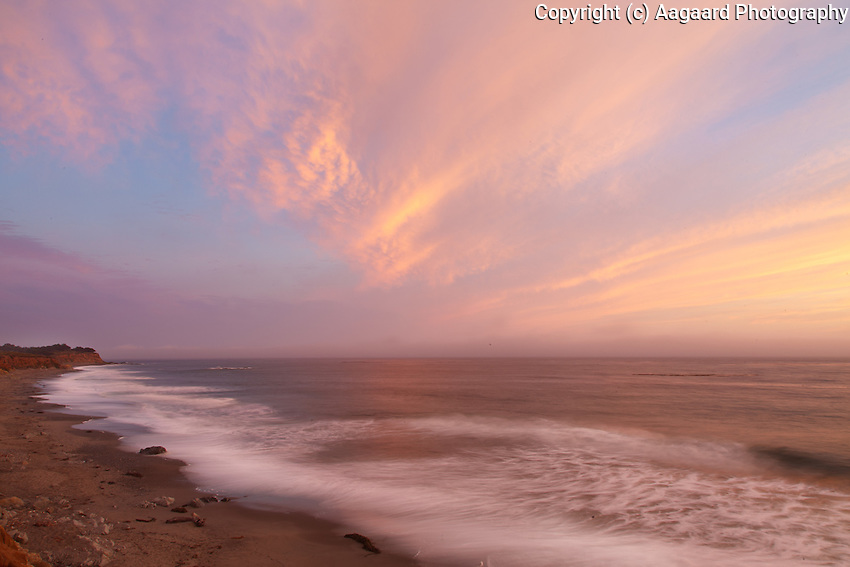Sunset near Cambria, central California coast