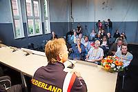 12-09-12, Netherlands, Amsterdam, Tennis, Daviscup Netherlands-Swiss, Press-conference Netherlands, Captain Jan Siemerink