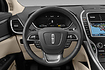 Car pictures of steering wheel view of a 2020 Lincoln Nautilus Base 5 Door SUV Steering Wheel