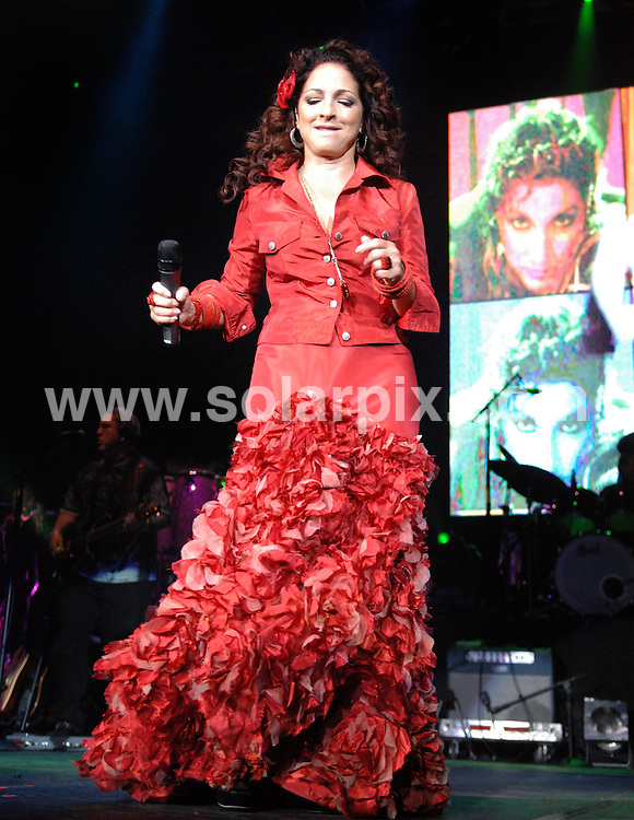 **ALL ROUND PICTURES FROM SOLARPIX.COM**.**WORLDWIDE SYNDICATION RIGHTS**.Gloria Estefan performs live in concert at the Liverpool Echo Arena, Liverpool, UK. 27 July 2009..This pic: Gloria Estefan..JOB REF: 9621 SGD     DATE: 27_07_2009.**MUST CREDIT SOLARPIX.COM OR DOUBLE FEE WILL BE CHARGED**.**MUST NOTIFY SOLARPIX OF ONLINE USAGE**.**CALL US ON: +34 952 811 768 or LOW RATE FROM UK 0844 617 7637**