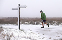 12/01/17<br />  <br /> A fell-runner wearing shorts braves snowy conditions as he tackles the Pennine Way over Ashop Moor near Glossop in Derbyshire.<br /> <br /> All Rights Reserved F Stop Press Ltd. (0)1773 550665   www.fstoppress.com