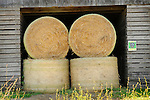 Hay roll in barn outbuilding. Union County, PA.