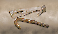 Neolithic bone fishing hooks. 6000 BC. Catalhoyuk Collections. Museum of Anatolian Civilisations, Ankara