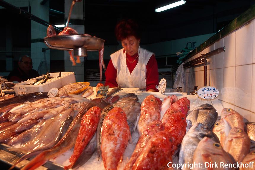 Spanien, Balearen, Ibiza, Fischmarkt in Eivissa