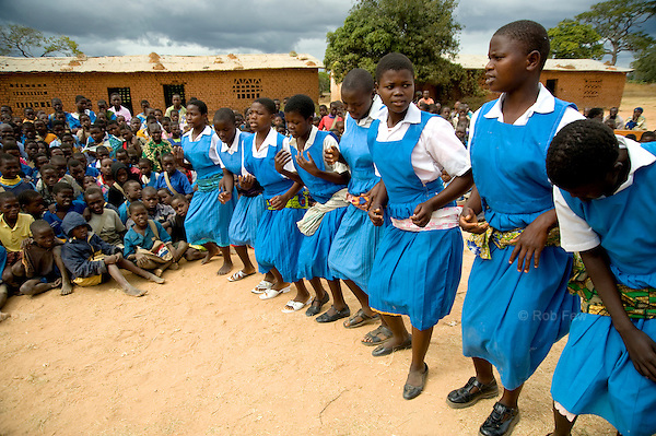 As well as physical construction, UNICEF has helped to train teachers on the importance of health and sanitation, and to organise school events to promote hygiene, such as this school assembly with plays and songs on how to avoid common diseases.  <br /> <br /> The small staff of Msiwa School, near the capital of Malawi, struggle to provide an education with a tiny budget and little equipment. Until recently, they didn't just need more teachers and books to get their children through school - they also needed more toilets. Without latrines and washing facilities, children were getting sick and dropping out, particularly girls.