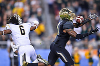 January 01, 2014:<br /> <br /> Baylor Bears cornerback Demetri Goodson #3 intercepts a pass intended for UCF Knights wide receiver Randell Hall #6 during Tostitos Fiesta Bowl at University of Phoenix Stadium in Scottsdale, AZ. UCF defeat Baylor 52-42 to claim it's first ever BCS Bowl trophy.