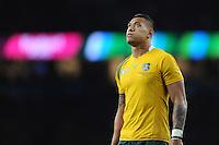 Israel Folau of Australia during the Semi Final of the Rugby World Cup 2015 between Argentina and Australia - 25/10/2015 - Twickenham Stadium, London<br /> Mandatory Credit: Rob Munro/Stewart Communications