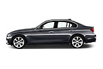 Car Driver side profile view of a 2016 BMW 3 Series Luxury 4 Door Sedan Side View