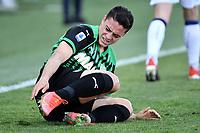 Giacomo Raspadori of US Sassuolo reacts during the Serie A football match between US Sassuolo and Atalanta BC at Citta del Tricolore stadium in Reggio Emilia (Italy), May 2nd 2021. Photo Andrea Staccioli / Insidefoto