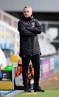 Blackpool manager Neil Critchley shouts instructions to his team from the technical area<br /> <br /> Photographer Chris Vaughan/CameraSport<br /> <br /> The EFL Sky Bet League One - Peterborough United v Blackpool - Saturday 21st November 2020 - London Road Stadium - Peterborough<br /> <br /> World Copyright © 2020 CameraSport. All rights reserved. 43 Linden Ave. Countesthorpe. Leicester. England. LE8 5PG - Tel: +44 (0) 116 277 4147 - admin@camerasport.com - www.camerasport.com