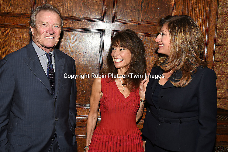 honorees Steve Kroft, Susan Lucci and Maria Bartiromo attend the Library of American Broadcasting  Annual Giants of Broadcasting Luncheon on October 6, 2016 at Gotham Hall in New York City. <br /> <br /> photo by Robin Platzer/Twin Images<br />  <br /> phone number 212-935-0770