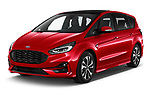 2021 Ford S-Max ST-Line 5 Door Mini MPV Angular Front automotive stock photos of front three quarter view