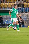 12.09.2020, Ernst-Abbe-Sportfeld, Jena, GER, DFB-Pokal, 1. Runde, FC Carl Zeiss Jena vs SV Werder Bremen<br /> <br /> <br /> Niclas Füllkrug / Fuellkrug (Werder Bremen #11)<br /> Einzelaktion, Ganzkörper / Ganzkoerper  Querformat<br /> <br />  <br /> <br /> <br /> Foto © nordphoto / Kokenge