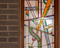 BNPS.co.uk (01202) 558833. <br /> Pic: UniquePropertyCompany/BNPS<br /> <br /> Pictured: Stained glass. <br /> <br /> Haus proud...<br /> <br /> A house designed in German Bavarian style in the south London commuter belt is on the market for £1.1m.<br /> <br /> Holly Lodge, a former pheasant shooting lodge and coaching inn, belonged to an engineer who fell in love with German architecture when he worked in the country.<br /> <br /> He bought and completely redesigned the building in the 1980s.<br /> <br /> The property, which is in the borough of Bromley, has four bedrooms, two bathrooms and two reception rooms.
