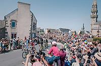the breakaway group cheered on by huge crowds<br /> <br /> Stage 6: Brest > Mûr de Bretagne / Guerlédan (181km)<br /> <br /> 105th Tour de France 2018<br /> ©kramon
