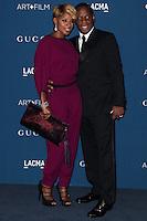 LOS ANGELES, CA - NOVEMBER 02: Mary J. Blige, Kendu Isaacs at LACMA 2013 Art + Film Gala held at LACMA on November 2, 2013 in Los Angeles, California. (Photo by Xavier Collin/Celebrity Monitor)