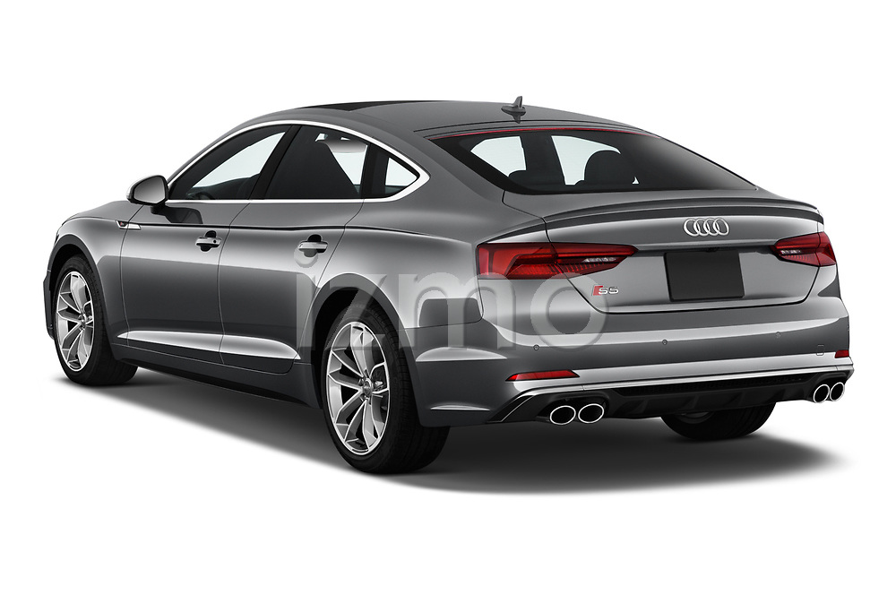 Car pictures of rear three quarter view of a 2018 Audi S5 Sportback Base 5 Door Hatchback angular rear