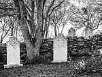 Tombstones in the historic Copperopolis Cemetery, Calaveras County, Calif.