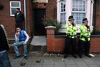 Anger among young Asian men as police guard the streets after the killing of three men: 21 year old Haroon Jahan, and brothers Shazad Ali (30) and Abdul Musavir (31) who were killed on Tuesday evening in a hit and run incident by suspected looters as they guarded a petrol station forecourt with many other people on Dudley Road in the Winson Green area of Birmingham, which was hit by a surge of rioting and looting. The violence started in London on Saturday evening after a peaceful protest in response to the shooting by police of Mark Duggan during an attempted arrest escalated into a riot, but has now spread to other areas in the country.
